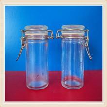 fashionable glass coffee jar glass storage jar sealed glass jar