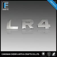 2015 hot sale ABS chrome emblem badges car chrome decorative letters
