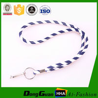 Wholesales China Round White Jacquard cord lanyard 2015