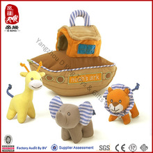 Wholesale ICTI SEDEX Soft Stuffed Animal Plush Noah's Ark