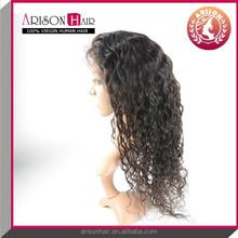 2015 best selling premium factory virgin Brazalian jerry curl full hand made lace wigs