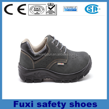 suede leather steel toe cap steel plate air mesh rocky safety shoes