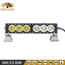 2015 NEW AMBER LED LIGHT BAR 11.5INCH 60W LED OFFROAD BAR KR9014 high quality used for car 4X4 LED LIGHT BAR