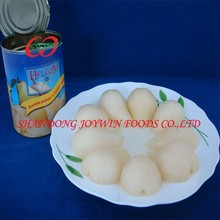 China Canned pear halves in light syrup, canned bartlett pear manufacturer
