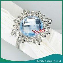 Blue Gem Wedding Table Napkin Ring