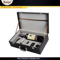 Top Class Excellent Wine Accssory Promotional Gifts Bottle Box Leather