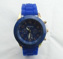 fashion mixed color strap watches cheap shipping wristwatch unisex sport watches silicone brand watch