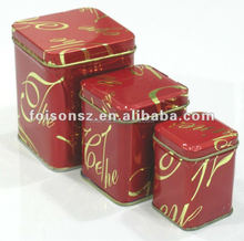 Delicate Square tin box set