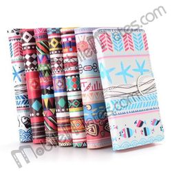Custom Printed Tribal Flowers Wallet Leather Flip Case for Samsung Galaxy Core 2 G355H G3559