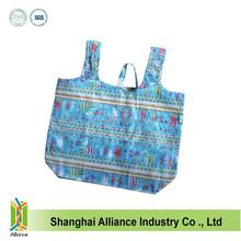 Cute T-Shirt Shape Small Flower Full Printing 190T Polyester Foldable Shopping Bag FH080