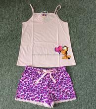 2015 summer jersey cotton lady pajama , women's pajama suit , pajama set