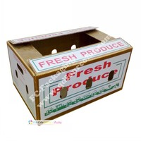 fresh produce waxed waterproof corrugated colored cardboard boxes
