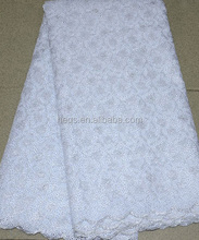 African Super organza lace in white