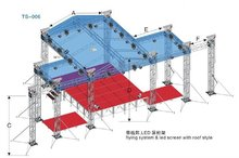 outdoor aluminum flying system and led screen with roof style truss