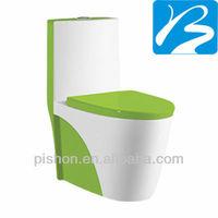 Ceramic Toilets In Green Color