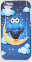 new porudct phone case for iphone 5C, mobile phone case for phone 5C with owl design made in china