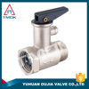 1/2 brass body pressure reducing relief adjustable forged nickel plated male female thread control gas oil brass safety valve