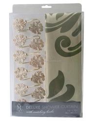 European style window curtains flower shower curtain