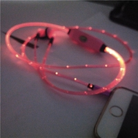 New 2015 Arrive glowing earphone Fashion LED headphones glow for Mobile phone accessory