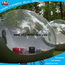 2015 Top quality inflatable two rooms buble tent, cheap party clear inflatable bubble tent for sale, new inflatable snow ball