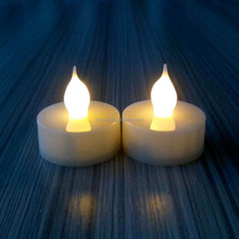 Church or party favor nice decorative ivory electronic tealight candle