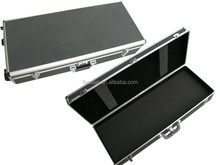 aluminum hard shell pistol carry gun case with strong handle and foam inside