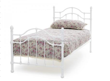 Double Bed Silver Metal Steel Frame