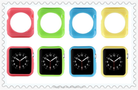 Candy Color Glossy Jelly Slim Transparent Crystal Clear Soft TPU Rubber Cover Case Skin For 38mm Apple Watch