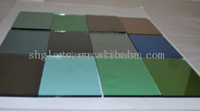 Float glass curtain wall design dark green reflective glass for building