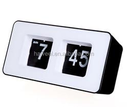 Haweel Unique Retro Cube Nice Desk Wall Auto Flip Clock (Black)