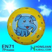 jiangyin NO.3 kid rubber basketball strong