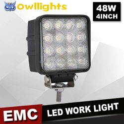 Easy to mount 4x4 accessories 48w led head light jeep headlight auto spare part 48w led driving light 5 inch 48w led work light