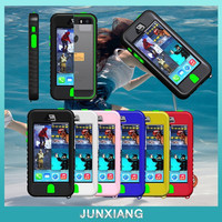 rainy days water proof swimming phone case with press button for iphone 5