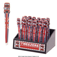 Routemaster Red Bus Shaped Stainless Steel Eyebrow Tweezers