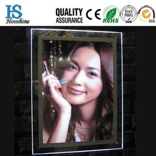 hot sale ultrathin A4 crystal picture/photo/poster led frame display
