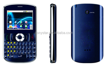 2.2inch cheap oem dual sim feature phone qwerty keypad cell phone with TV/Blutooth