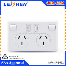 SAA certificate available multi plug wall sockets popular for AU market