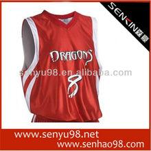 Latest sublimation basketball jersey