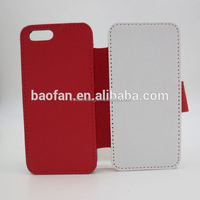 Sublimation Phone Cases Blank White fabric Leather Flip cover for IP5