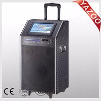 YAZOO hot sale TV-12 150W 12inch battery speaker/proffessional active speaker with 9 inch touch screen membrane