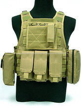 Tan chaleco táctico militar, chaleco táctico de combate, durable chaleco de combate