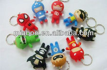 Spiderman/captain america/batman//superman/lightning man/skeleton man/Nick Fury usb flash 2.0 drive, mix style