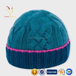 Cable Ribbed Wool Cashmere Mens Hat Styles