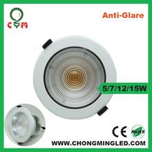 Long life span ac85-265v cob epistar lampu down light 5W/7W/9W/12W/15W
