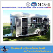 2015 New design 2 horse angle load float with bunk beds(2 HAL /2 HSL)