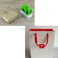 Gem Natural Kraft Paper Shopping Bag with Handles Brown Printed 100% Recycled Shopping Bag with Handles