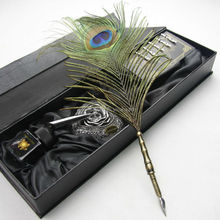 Feather pen with peacock quill for decoration,home decor feather,wedding decoration