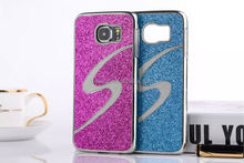 Luxury Bling bling exclusive s line back pc case blink glitter for samsung galaxy s6 case made in china