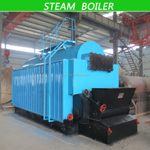 DZL Series different evaporation Low Pressure Chain Grate Steam Boiler / Hot Water Boiler for sale
