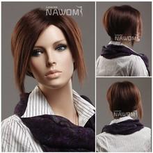short wigs Indian hair Kanekalon wig hot sale
